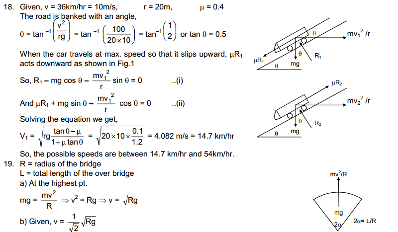 Circular Motion HC Verma Concepts of Physics Solutions-7