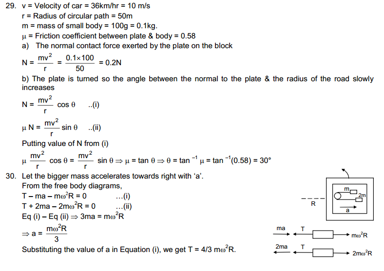 Circular Motion HC Verma Concepts of Physics Solutions 13
