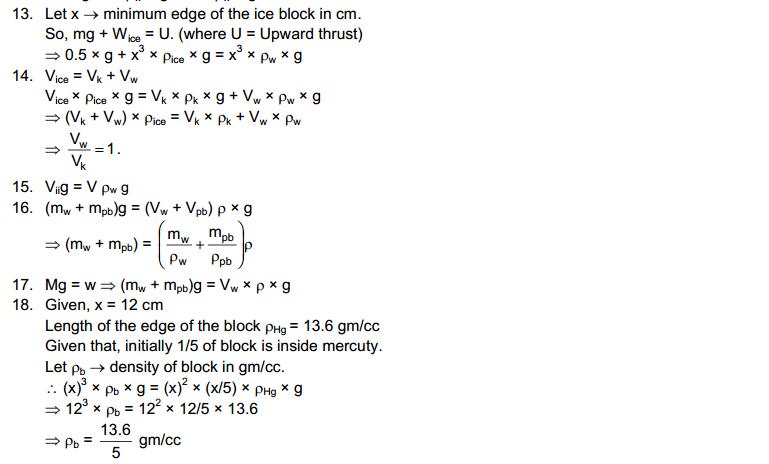 Fluid Mechanics HC Verma Concepts of Physics Solutions