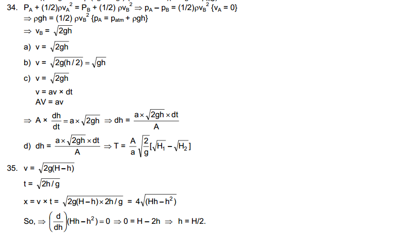 Fluid Mechanics HC Verma Concepts of Physics Solutions Chapter 13