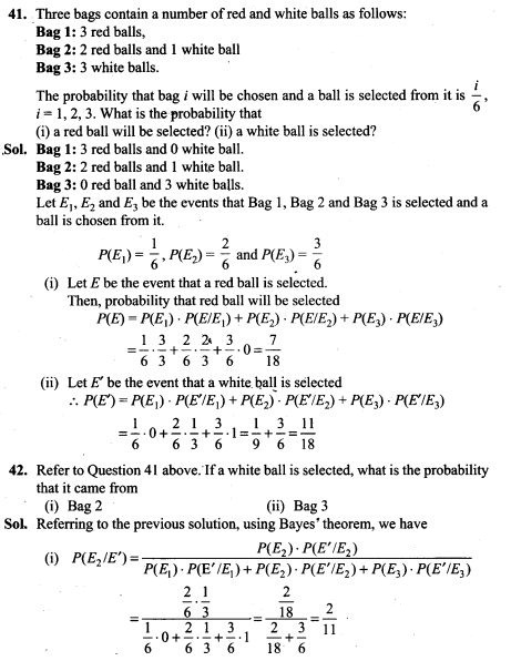Probability Ncert Exemplar Problems Solutions Class 12th