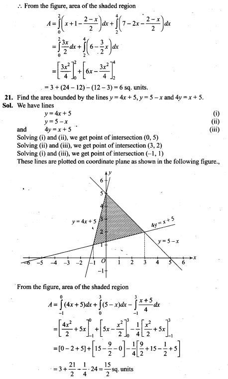 integral calculus application problems with solutions pdf